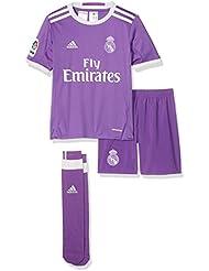 adidas Real Madrid CF 2016/17 A Smu Mini - Mini conjunto jugador para niños de 7-8 años, color violeta / blanco