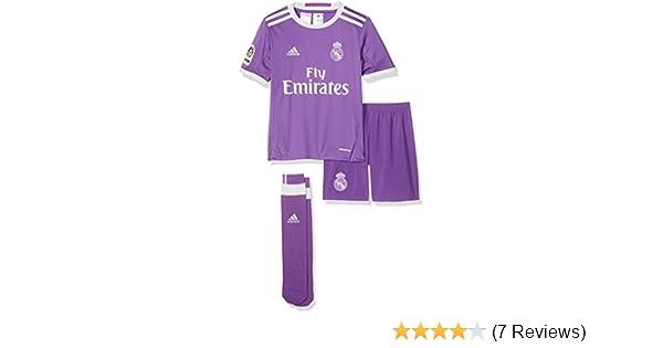 0c860a41eaf adidas Performance Real Madrid Away 16 17 Boys Football Mini Kit - Purple   Amazon.co.uk  Sports   Outdoors