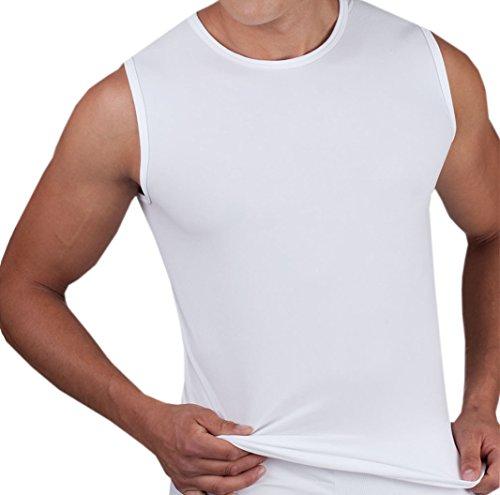 Ott-tricot Herren Unterhemd Muskel Shirt Sensi- Wäsche Weiß Microfaser Gr. M (Mikrofaser-shirt Weiße)