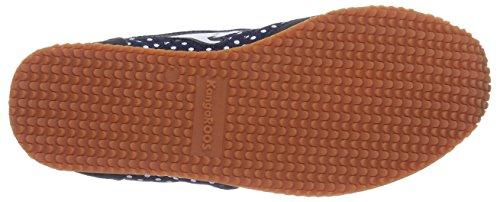KangaROOS Invader Dots, Damen Sneakers Blau (dk navy 460)