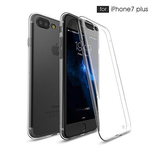 ULTRICS® iPhone 7 plus hülle, kristallklares super dünnes u. Leichtes weiches flexibles Gel TPU Transparente Kratzer-schützende Abdeckung für Apple iPhone 7 2017