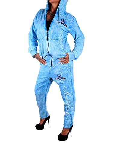 Damen Jogging-Anzug Verwaschen 693 (M-fällt groß aus, Türkis) (Jacket Track Adidas-männer)