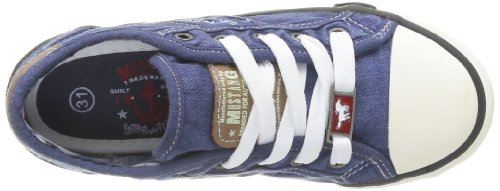 Mustang 5803 305 841, Baskets mode mixte enfant Bleu (841 Jeansblau)