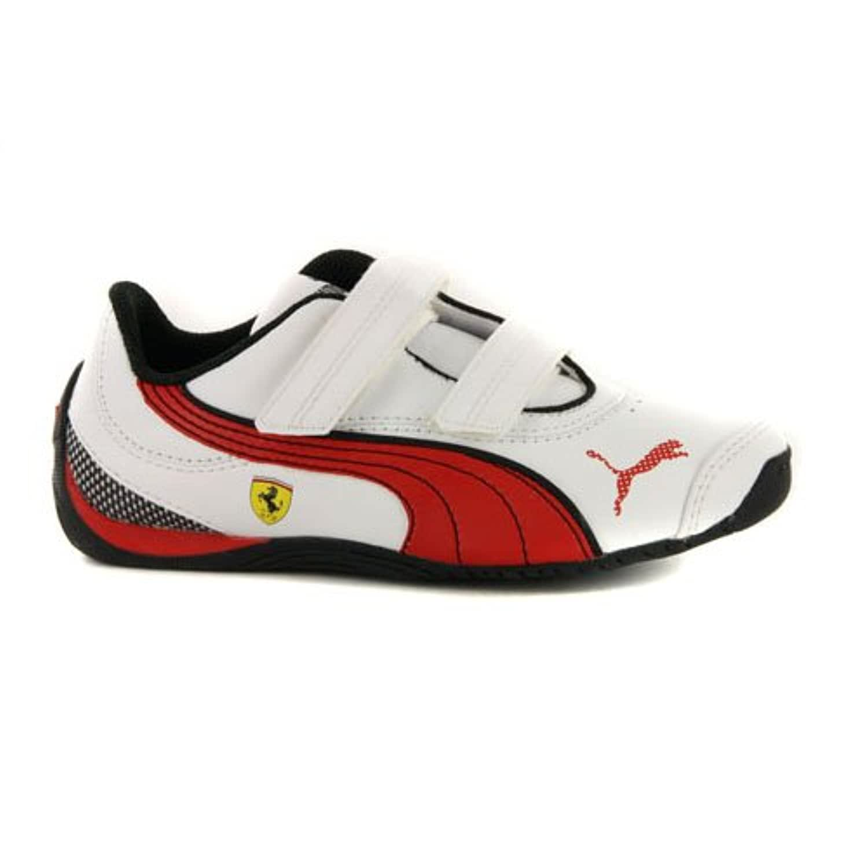 Boys Puma Drift Cat III Ferrari White Leather Strap Motorsport Trainers UK 1 / EUR 33