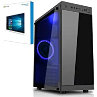 Freshtech Intel Core I5 7400 2tb + SSD 16gb 2133Mhz GTX 1050TI 4gb Voyager Windows 10 PC Gigabyte H110M-S2H Motherboard 16gb DDR4 2133mhz Performance Ram Nvidia Geforce GTX 1050TI 4gb Fractal Design 500w 80 Plus Certified 34a Power Supply 120gb SSD Solid State Drive with Superior Read + Write Speeds + 2tb HDD