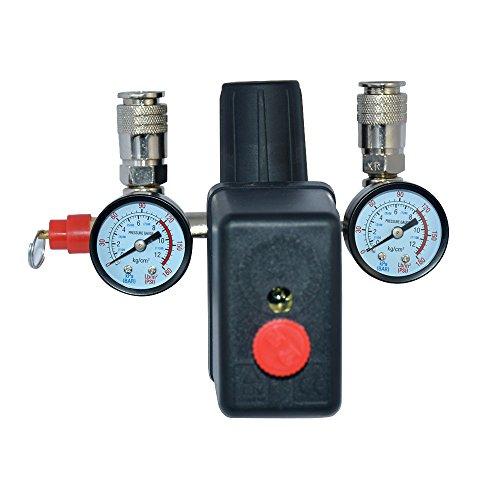 Régulateur de Pression d'Air avec Pressostat Pour Compresseur Commutateur de Pression Interrupteur de charge 230V 1 Set
