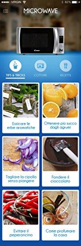 comprare on line Candy Microonde CMXG20D - Grill e App Cook-in, 20L, 40 Programmi Automatici, 700 W, Argento prezzo