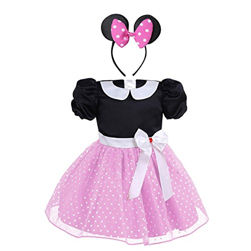 Tiaobug Babykleid Prinzessin Polka Dots Party Kleid Baby -