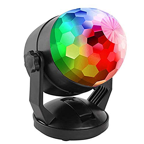 Musik Auto Rhythmuslampe LED Blinker Atmosphäre DJ Disco Licht Stroboskop Lampe mit Stromversorgung/USB Portable 7 Farben RBG Sound Rotation Lichter Party