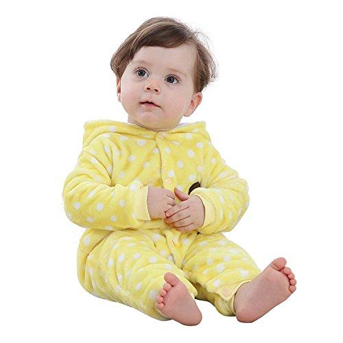 Chickwin Infant Tier Jumpsuit Baby unisex Krabbeln Pyjamas Flanell mit Kapuze Strampler Mädchen Schneeanzug Jumpsuit (66, - Weiße Halloween-kostüm Van