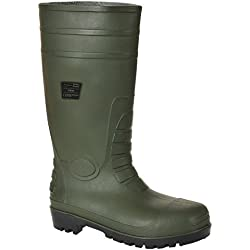 Portwest Steelite Total Safety Wellington S5 - zapatos de seguridad para hombre, Verde, 10 UK