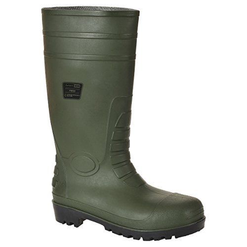 Steelite - stivali di gomma Steelite Total Safety Wellington S5, Unisex - adulto verde (Green)