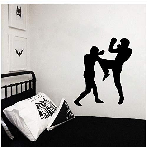 Pegatinas de pared decorativas de boxeo PVC salón dormitorio 63x48cm