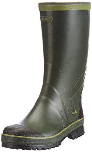 Viking Balder, Bottes en caoutchouc non-fourrées, tige haute mixte adulte - Vert - Grün (Green/Multi 450), 36 EU