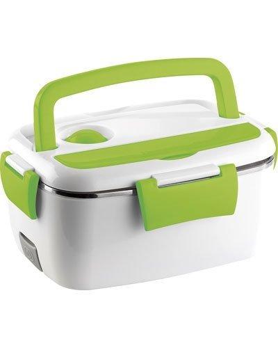 Rosenstein & Söhne Fiambrera térmica y eléctrica, calentador de alimentos de acero, 35W, recipiente de 1200ml, con 2compartimentos, de acero