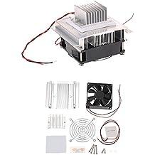 KKmoon DIY Kit Potencia termoeléctrico Peltier Enfriador Refrigeración Sistema de refrigeración Enfriador SFPLUSES18 Módulo + Ventilador