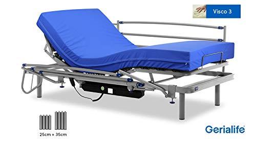 Gerialife® Pack Cama articulada eléctrica | Colchón