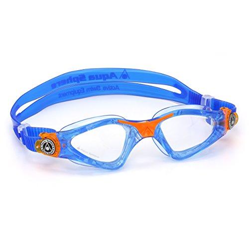 Unbekannt First Base Kayenne Schwimmbrille für Kinder (transparent-blau-orange)