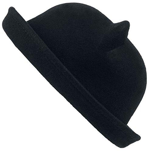 Poizen Industries Kitty Bowler Hat Hut schwarz