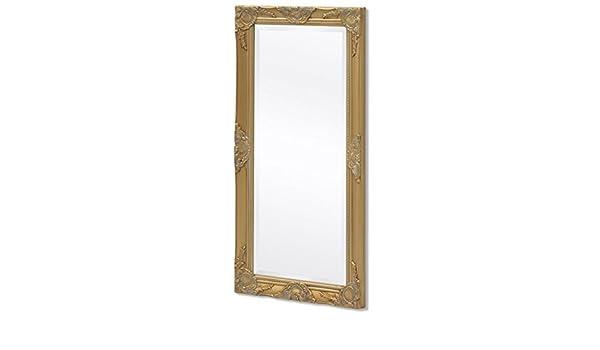 hobbyesport Specchio da Parete Stile Barocco 100x50 cm Dorato