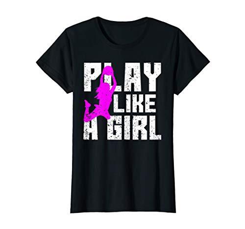 Abspielen Wie Ein Mädchen Korbball Basketball T-Shirt