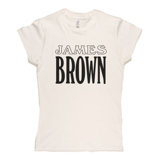 James Brown 2 Womens Fitted T-Shirt Weiß