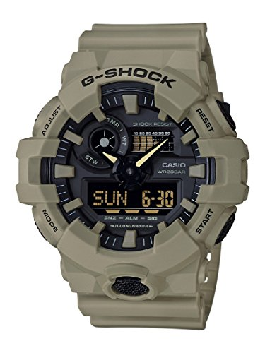 Casio G-Shock Analog-Digital Herrenarmbanduhr GA-700UC braun, 20 BAR