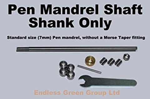 Endlessgreen - Pen Mandrel Straight shaft - NO MORSE TAPER - penmaking / woodturning EGPM0