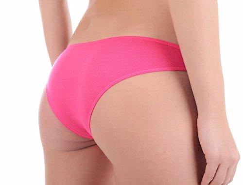 Bikini Slip Tanga Panty Dessous Slip, Unterwäsche für Damen, Gr. S, M, L Hot Pink
