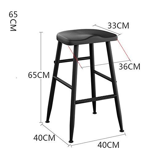 MEIDUO Durable Selles Chaises de bar en fer Accueil chaise de dossier Tabouret de bar 45cm / 55cm / 65cm / 75cm pour intérieur extérieur (Couleur : A, taille : 65cm)