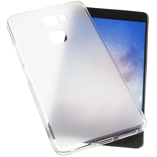 foto-kontor Tasche für MEDION Life X5520 Gummi TPU Schutz Handytasche transparent weiß