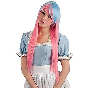 Carnaval Juguetes 2861 - peluca, extra largo, rosa/azul