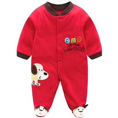 Neonato pagliaccetto cotone pigiama bambino jumpsuit manica lunga tutina 0-3 mesi