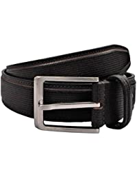 POLO INTL Men's Leather Belt (Dark Brown, 30 inches)