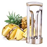 Omiky® Ananasschäler, Edelstahl Ananasschneider Schneider Schäler Ring Keil, der Coring Cutter Küchenwerkzeug Schneidet (Silber)