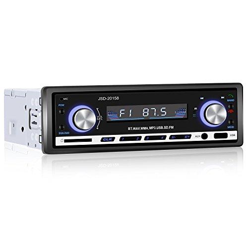 Yohoolyo − Radio con Bluetooth para coche con adaptador ISO, compatible con...