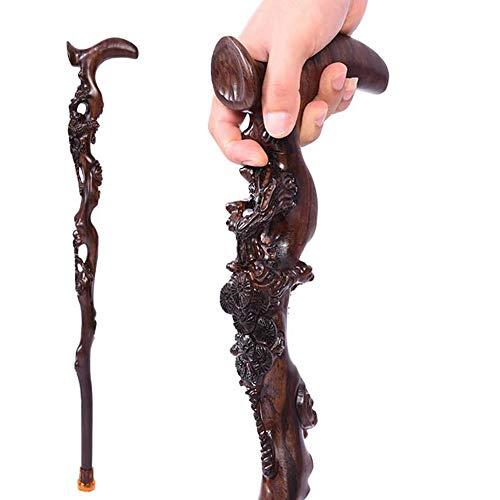 A&D Ebenholz Holz Geschnitzt Krücke, Feste Hölzerne Geschenk Gehstöcke Handwerkskollektionen, Für Männer Und Frauen -