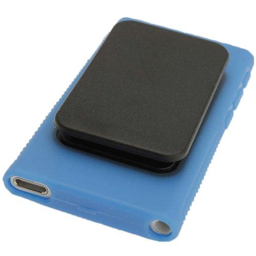 n'Go' Dauerhafte Kristall Gel Tasche TPU Hülle Schutzhülle Etui für Apple iPod Nano 7. Gen Generation 7G 16GB mit integriertem Sport Clip + Displayschutzfolie ()