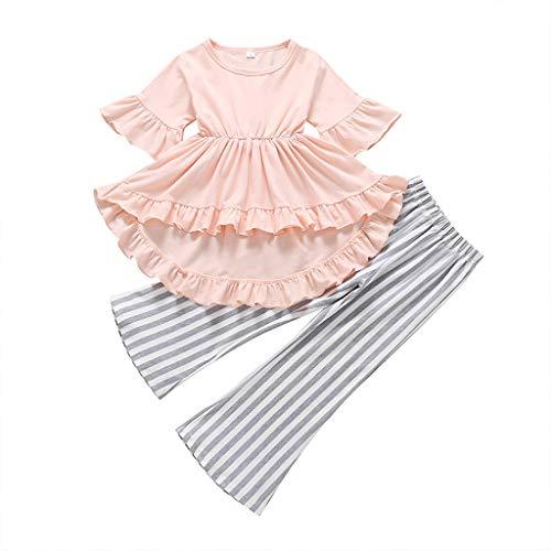 Mädchen Denim Kleid Kinderkleidung Mädchenkleider Kleinkind Baby Lange Ärmel Prinzessin Tutu Kleid Cowboy Kleider Sommerkleid Spitze Babykleidung Schöne ()