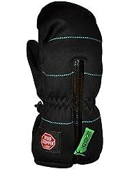 ESKA Niños Micro de esquí/Invierno de manoplas con & cortavientos Primaloft, otoño/invierno, infantil, color negro / verde, tamaño XXS
