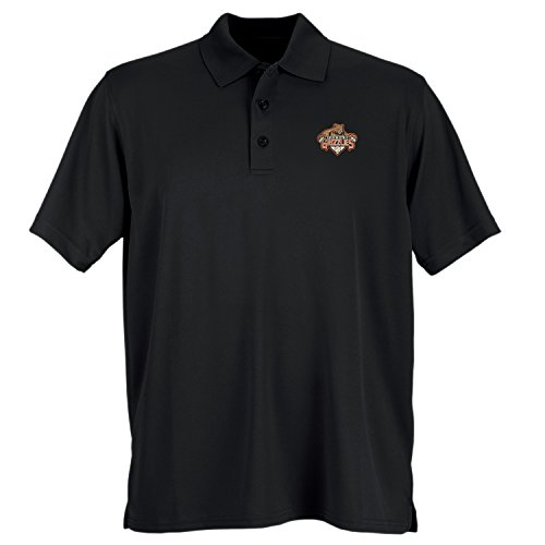 Vantage Apparel Minor League Baseball Fresno Grizzlies Men's Performance Mesh Polo Shirt, X-Large, Black