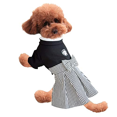 WEATLY Haustier-Kostüm Kimono-Rock, Samurai-Anzug, Hunde-Liebhaber, Welpenkostüm, Baumwolle, Rock, (Samurai Kimono Kostüme)