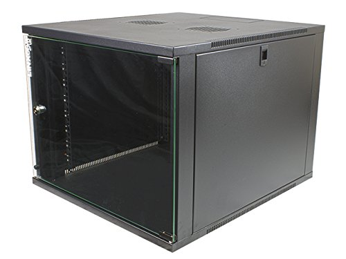 linxcom-uk-9u-19-540450mm-wall-mounted-network-cabinet-rack-model-q-black-ready-built