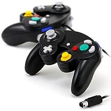 Lot de 2 manettes noires pour console Nintendo Gamecube Wii
