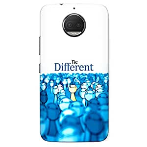 CrazyInk Premium 3D Back Cover for Moto G5s Plus - Be Different