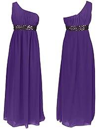 Amazon.it  Elegante con Paillettes - Viola   Vestiti   Donna ... cf61fb519d1