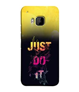 PrintVisa Designer Back Case Cover for HTC One M9 :: HTC One M9S :: HTC M9 (Just Do It Design In Yellow And Black)