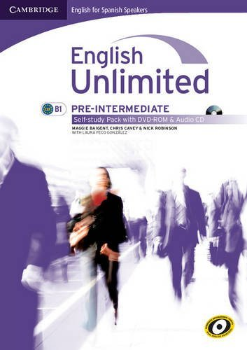 English Unlimited for Spanish Speakers Pre-intermediate Self-study Pack (Workbook with DVD-ROM and Audio CD) by Maggie Baigent (2010-08-15)