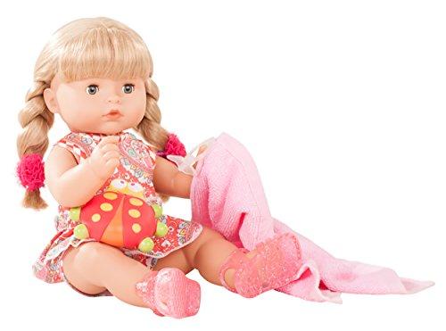 Götz 1818242 Maxy Aquini Vintage Badepuppe - Puppe mit blonde Haare, blaue Schlafaugen - 10-teiliges Set - 42 cm Mädchen-Babypuppe