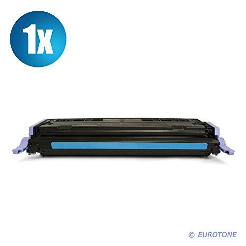 EUROTONE Premium Laser Toner Non OEM ersetzt Q6001A Cyan remanufactured für HP Color Laserjet 1600 2600 2605 + cm 1015 1017 - Alternativkompatibel -
